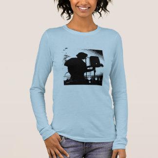 Hülsent-stück Damen Chris Brochu langes Langarm T-Shirt