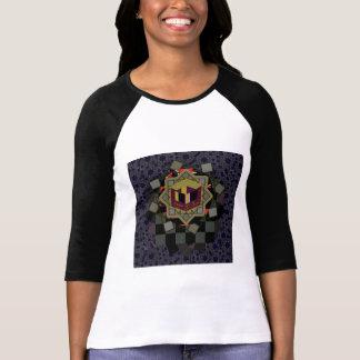 Hülseraglan-T-Stück des Entwurfs-Felsen-3/4 T-Shirt