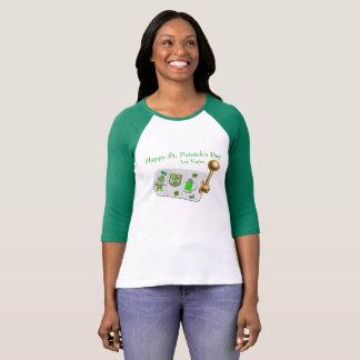 Hülseraglan-T-Stück Las Vegass St Patrick Tag3/4 T-Shirt