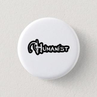 Humanist in Schwarzweiss Runder Button 3,2 Cm