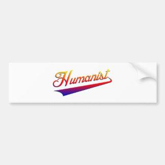 Humanist-OrangeSwash Autoaufkleber