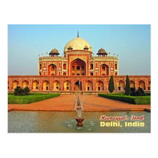 Humayuns Grab und Garten, Delhi, Indien Postkarte
