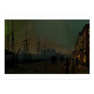 Humber Dockside, Rumpf durch John Atkinson Postkarte