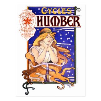 Humber fährt 1890s Vintages Werbungs-Plakat rad Postkarte