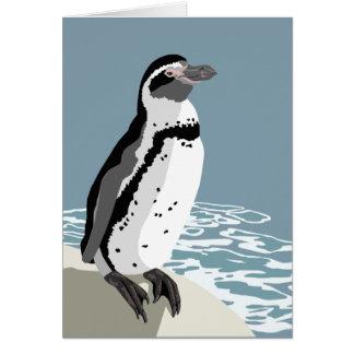 Humboldt-Pinguin-Gruß-Karte Karte