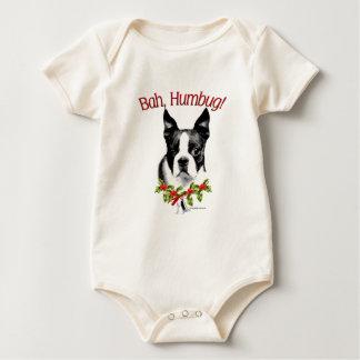 Humbug Bostons Terrier Bah Baby Strampler