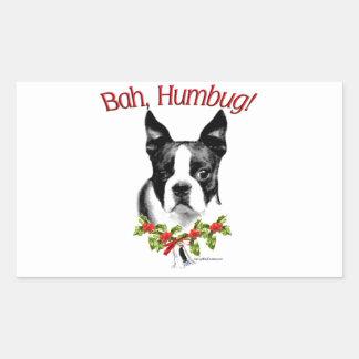 Humbug Bostons Terrier Bah Rechteckiger Aufkleber