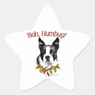 Humbug Bostons Terrier Bah Stern-Aufkleber