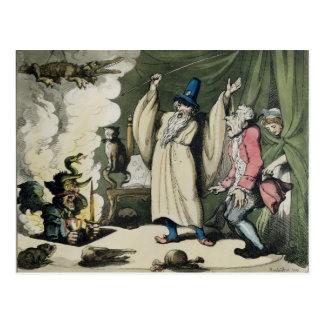 Humbugging oder Anheben des Teufels, 1800 Postkarte