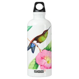 Humingbird und Hybiscus Aluminiumwasserflasche