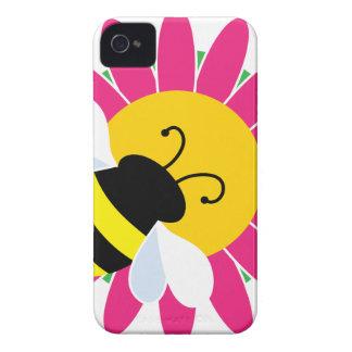 Hummel-Biene auf Blume iPhone 4 Hüllen
