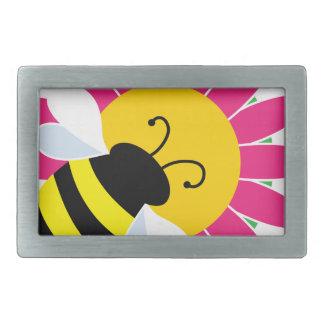Hummel-Biene auf Blume Rechteckige Gürtelschnalle