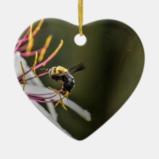 HUMMEL-BIENE LÄNDLICHES QUEENSLAND AUSTRALIEN KERAMIK Herz-Ornament
