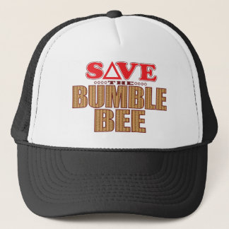 Hummel-Biene retten Truckerkappe