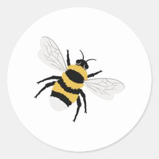 Hummel-Biene Runder Aufkleber