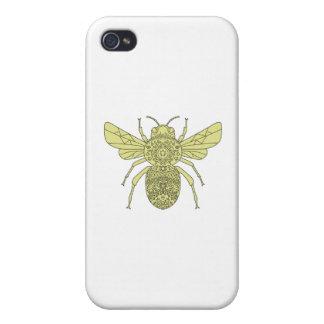 Hummel-BieneMandala iPhone 4 Schutzhülle