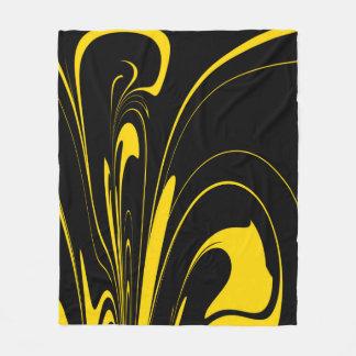 Hummel-Bienen-Farben Fleecedecke