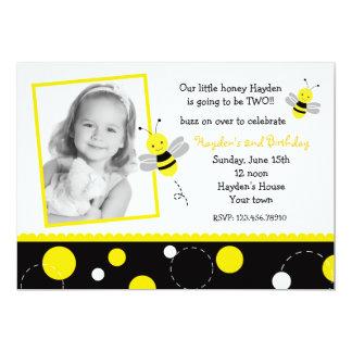 Hummel-Bienen-Foto-Geburtstags-Party Einladungen