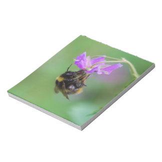 Hummel-Bienen-Foto Notizblock