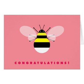 Hummel-Bienen-Glückwünsche Karte