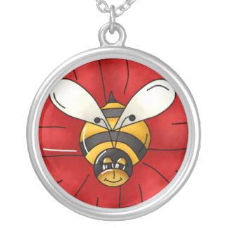 Hummel-Bienen-Halskette Versilberte Kette