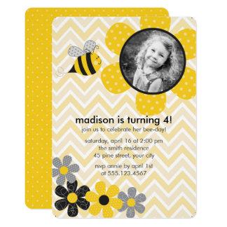 Hummel-Bienen-Kindergeburtstag-Party 12,7 X 17,8 Cm Einladungskarte