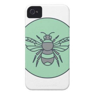 Hummel-Bienen-Kreis-Monolinie iPhone 4 Hüllen