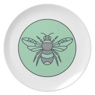 Hummel-Bienen-Kreis-Monolinie Melaminteller