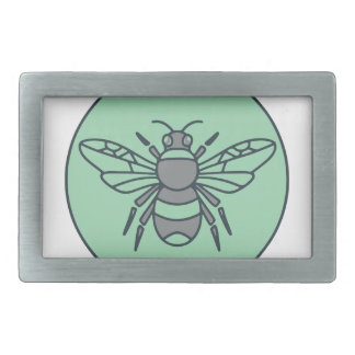 Hummel-Bienen-Kreis-Monolinie Rechteckige Gürtelschnalle
