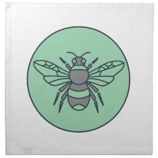 Hummel-Bienen-Kreis-Monolinie Stoffserviette
