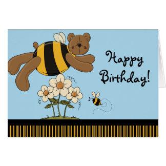 Hummel trägt alles- Gute zum Geburtstaggruß-Karte Karte