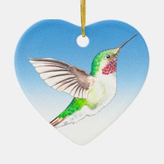 Hummer-Blau-Glas Keramik Ornament