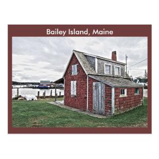 Hummer-Bretterbude, Bailey-Insel, Maine Postkarte