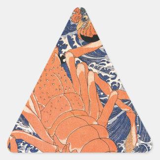 Hummer durch Utagawa Kuniyoshi Dreieckiger Aufkleber