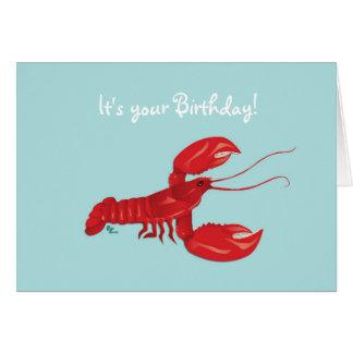 Hummer-Geburtstags-Karte Grußkarte