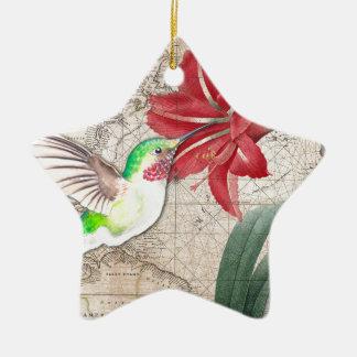 Hummer-Karte ammaryllis II Keramik Ornament