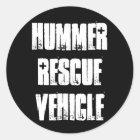 Hummer-Rettungsfahrzeug Runder Aufkleber