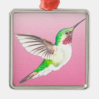 Hummer-Rosa Silbernes Ornament