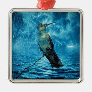 Hummer und der Hurrikan Silbernes Ornament