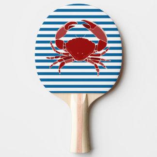 Hummer-und Krabben-blauer und weißer horizontaler Tischtennis Schläger