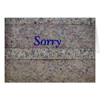 Humorus Entschuldigungs-Karte Mitteilungskarte