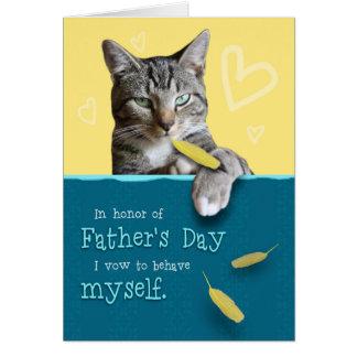 Humorvolle der Vatertags-Karte mit frecher Katze Karte