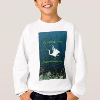 """Humorvolle Freien-""""Rock-and-Roll"""" Zitat-Eltern Sweatshirt"""