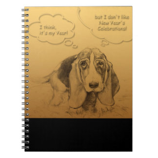 Humorvolle gewundenes Notizbuch des Hundejahr-2018 Notizblock