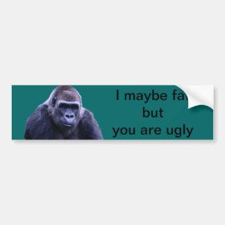 humorvolle Gorillaprodukte Autoaufkleber