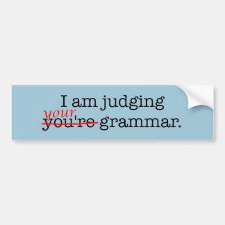 Humorvolle Grammatik-Polizei Autoaufkleber