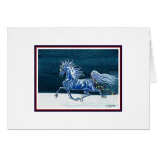 Humorvolle Pferdeweihnachtskarte Grußkarte