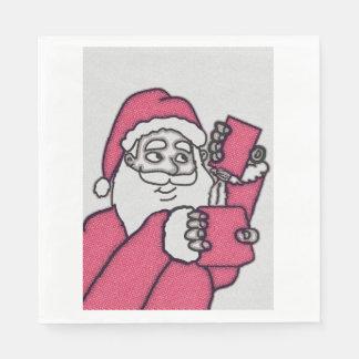 Humorvolle Sankt-Illustrationsservietten Papierserviette