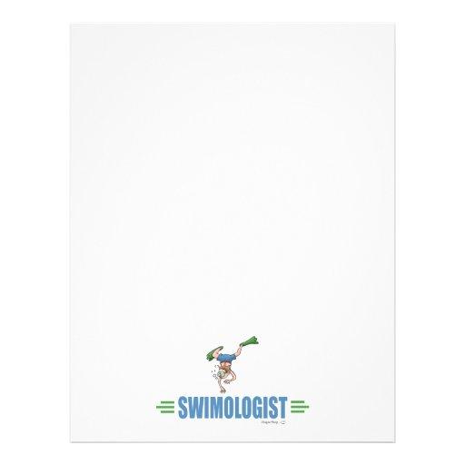 Humorvolle Schwimmen Vollfarbige Flyer