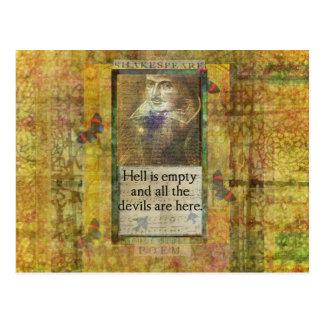 Humorvolle Shakespeare-ZITAT-Kunstwörter Postkarte